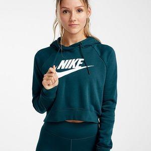 Cropped teal Nike hoody